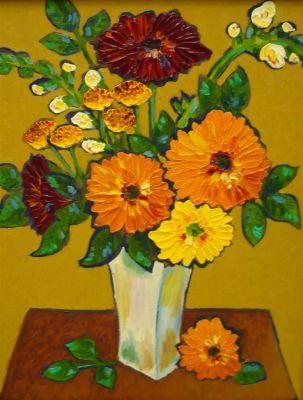 Impasto - country bouquet 20x16 1200