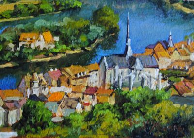 5x7 Paintings - Loir Valley 5x7 SOLD
