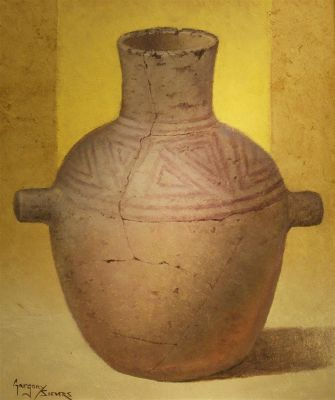 Clay Pots and Vessels - old water vessel 24x20  $2500