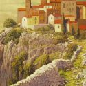 European Landscape - Amalfi Coast Hillside Wall 48x60  $11500 SOLD