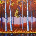 Contemporary Outdoor - Blue Birch 36x48 was $3900 SOLD