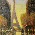 Street Scenes - Paris in Fall 16x12 $3250