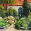 European Scenes - Flower Garden 16x20  $2500 SOLD