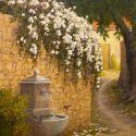 European Landscape - Fountain 30x24  $4500 SOLD