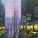 Street Scenes - French Flower Vendor 40x30  $6500