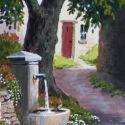 Watercolors - Fountain 9x7  $750