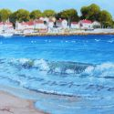 Watercolors - Across the Water (sablette France) 8x10 $ 750
