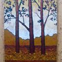 Contemporary Outdoor - Three Reflections 36x12 $1900