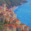 5x7 Paintings - Riviera study 5x7