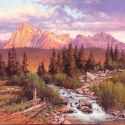 Western Landscapes - Sawtooth Mountain Range 24x30 $4500