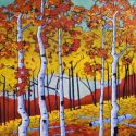 Contemporary Outdoor - Season Change 36x36 $3200