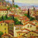 European Landscape - Sienna Rooftops 12x16  $1950 SOLD
