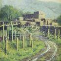 Western Landscapes - Taos pueblos 16x12 $1950