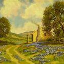 Western Landscapes - Texas Blue bonnets 16x20 $ 2500