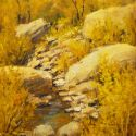 Desert Landscapes - Vertical Creek 24x12  $2500 SOLD