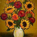 Heavy Texture - White Vase 24x30 2100