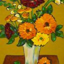 Impasto - country bouquet 20x16 1200